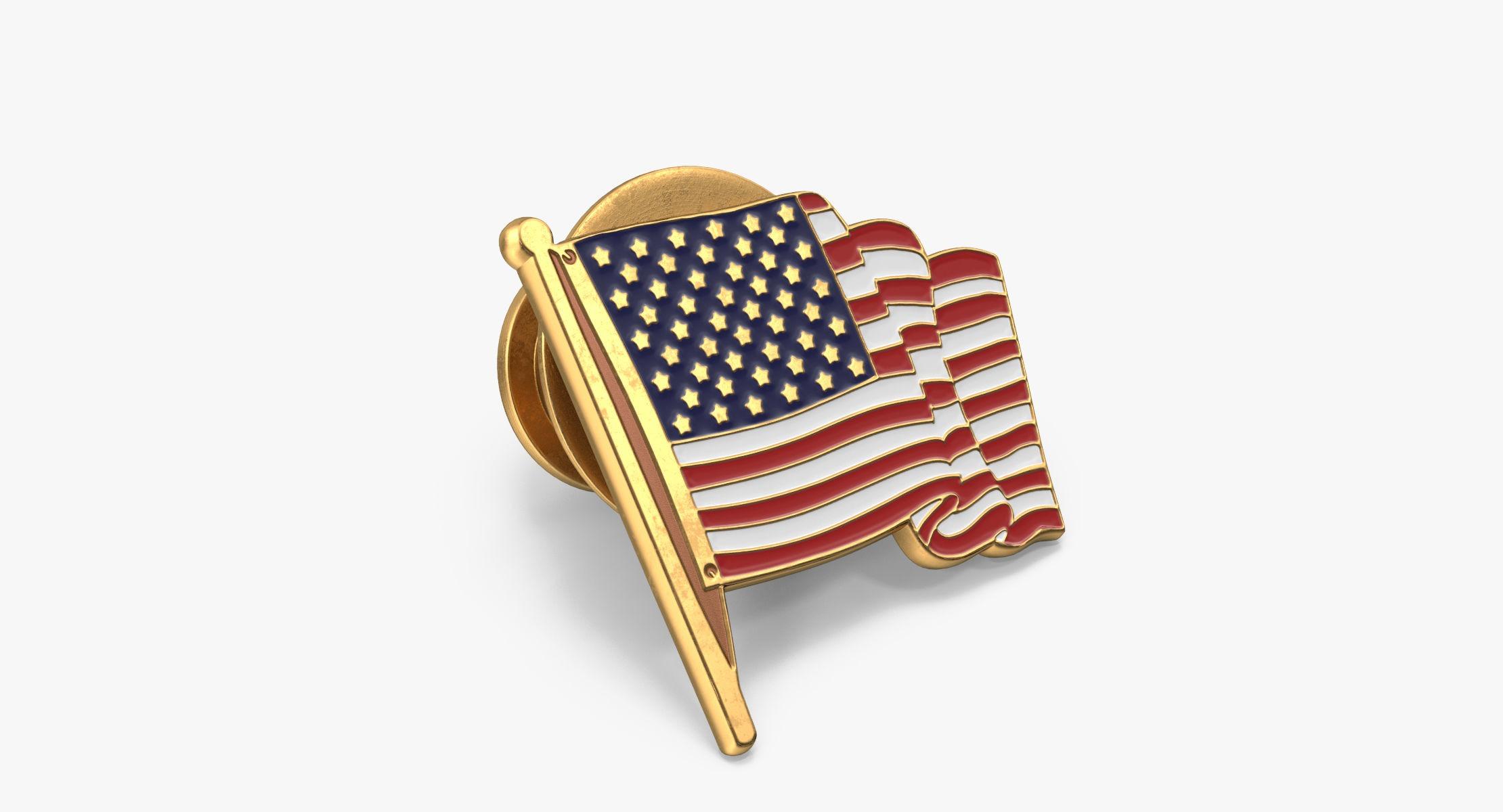American Flag Pin - reel 1