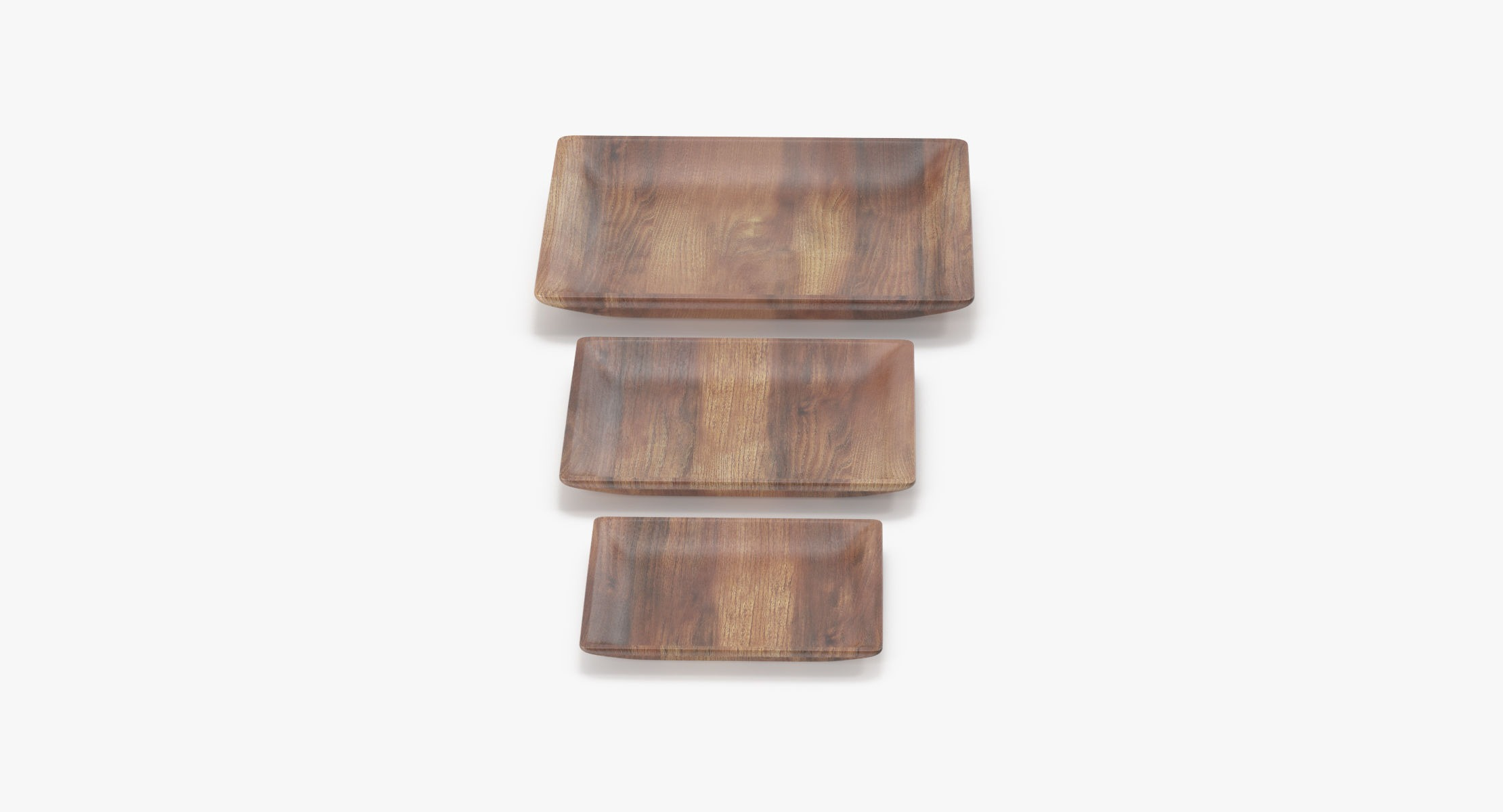 Wooden Serving Plate Square - reel 1