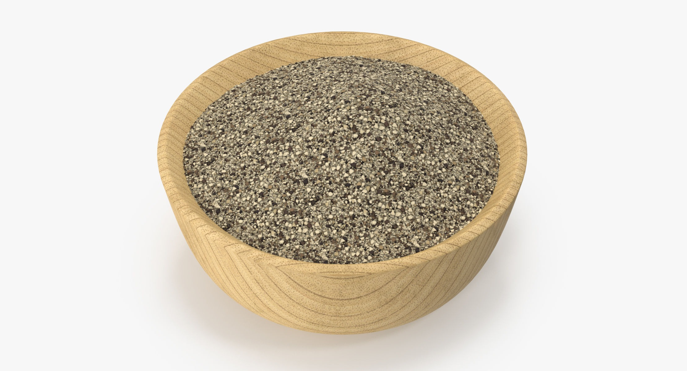 Bowl of Ground Black Pepper - reel 1
