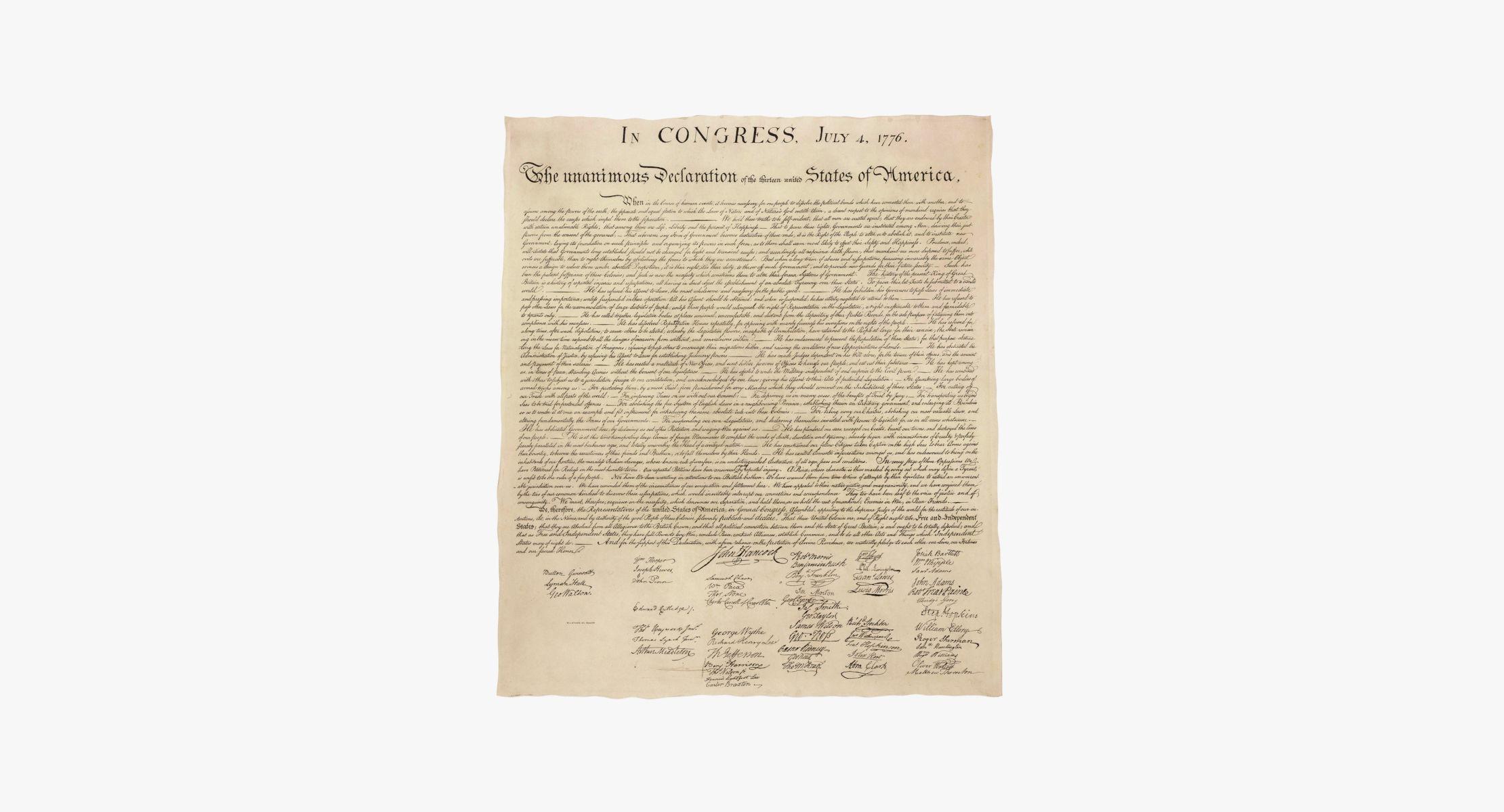Declaration of Independence Flat - reel 1