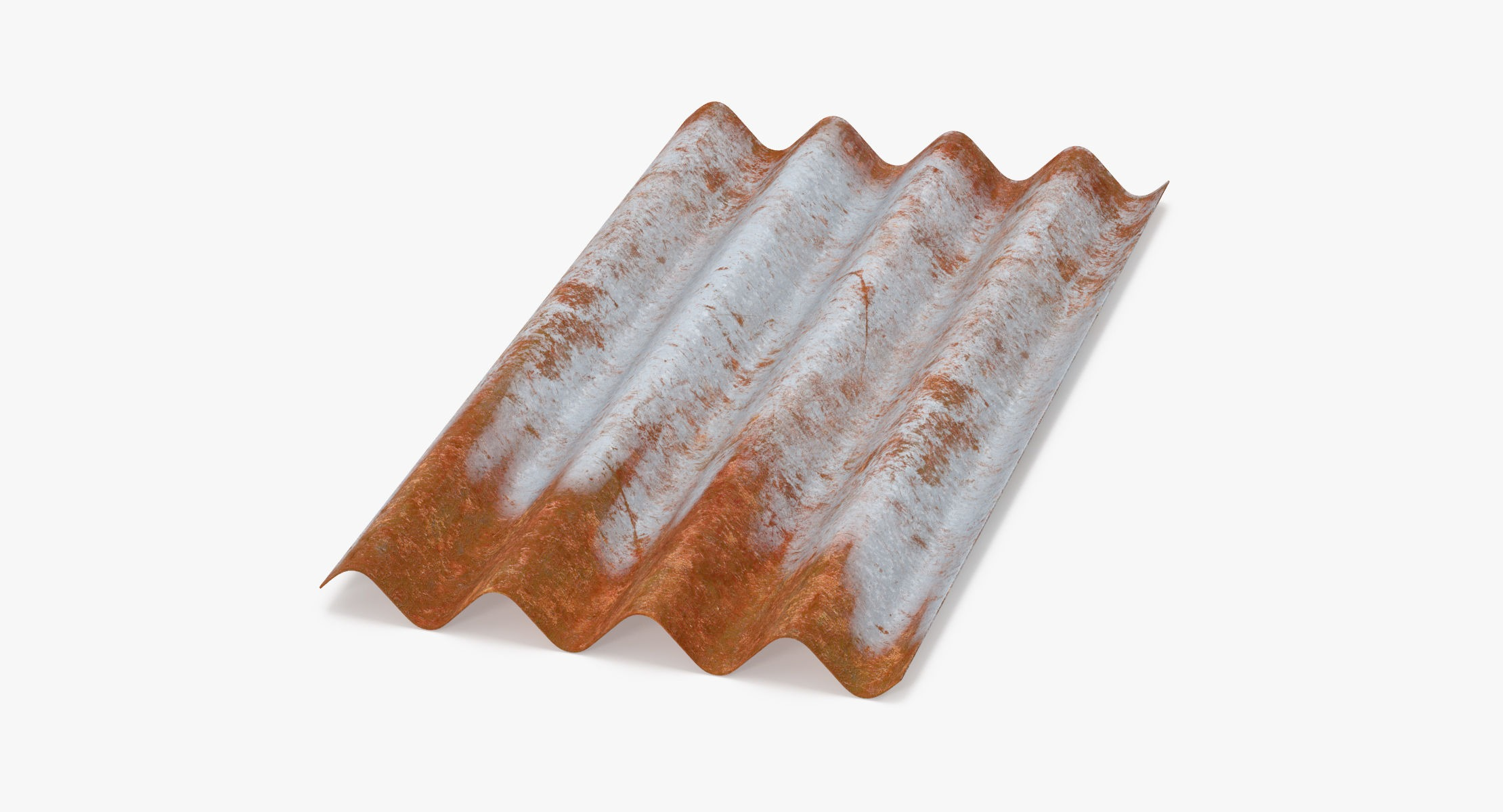 Corrugated Metal Sheets Rusted - Small - reel 1