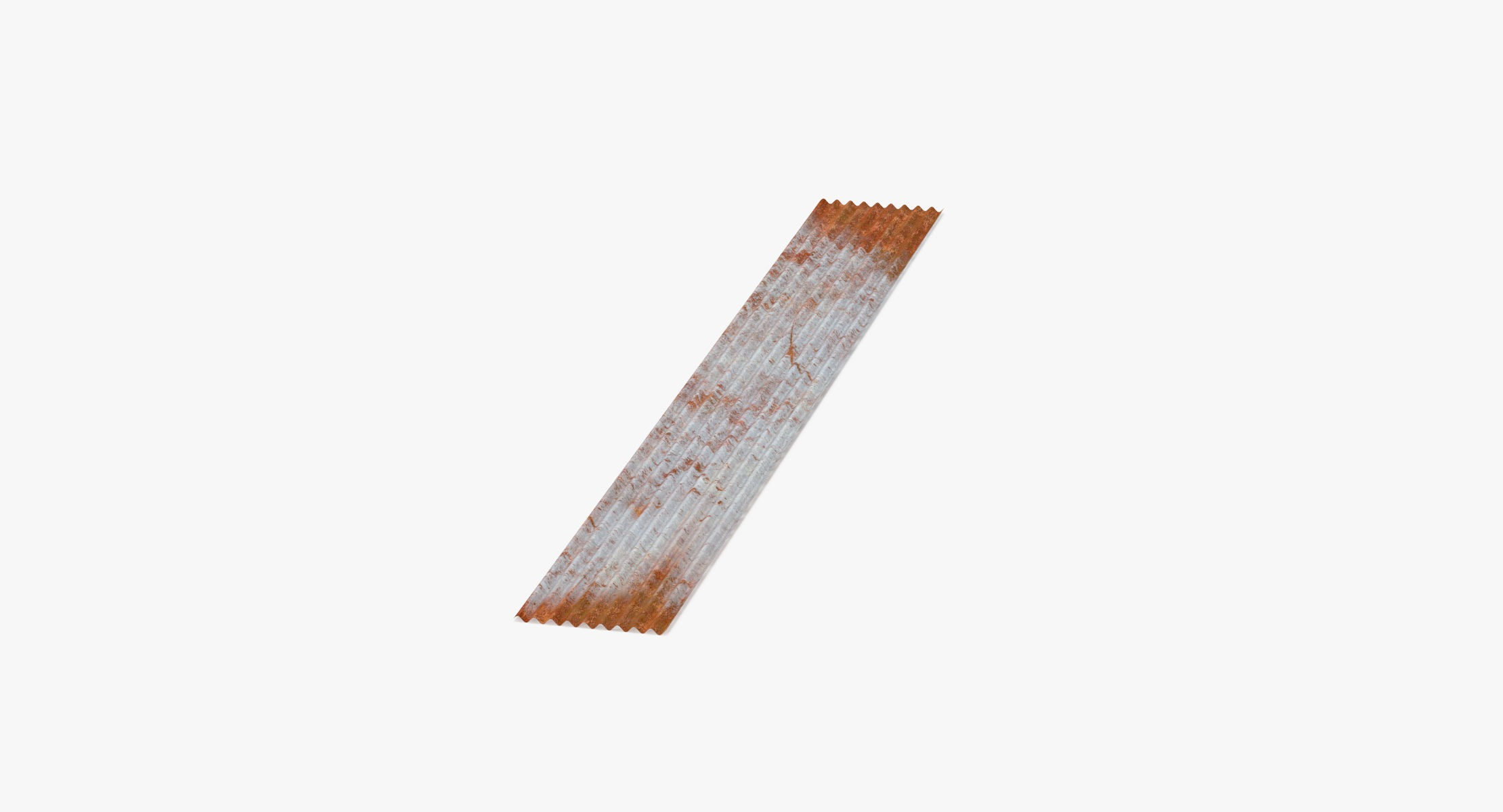 Corrugated Metal Sheets Rusted - Large - reel 1