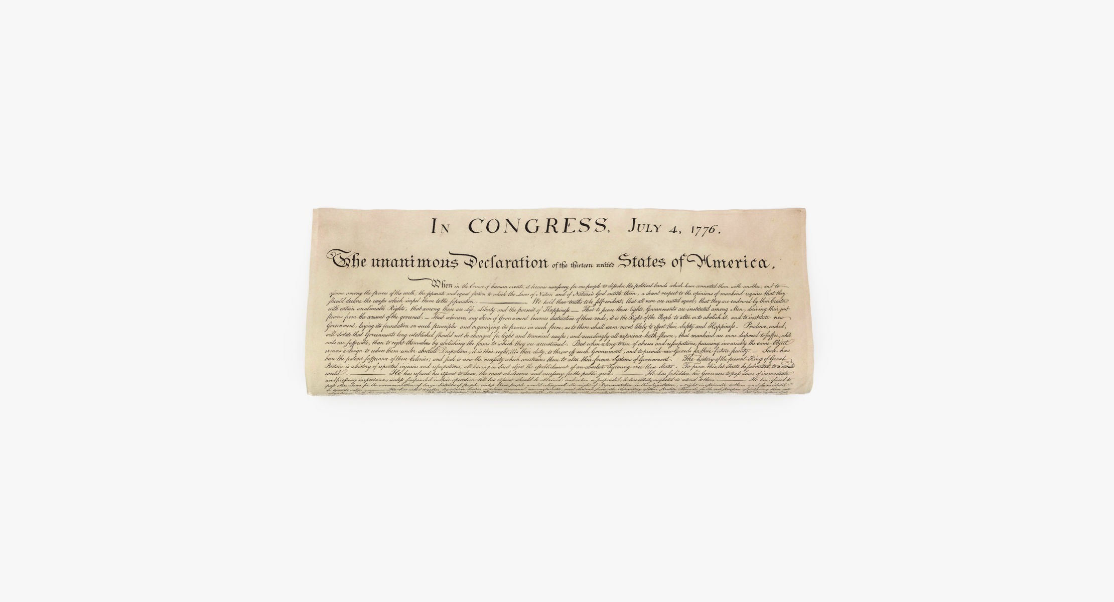 Declaration of Independence Rolled - reel 1