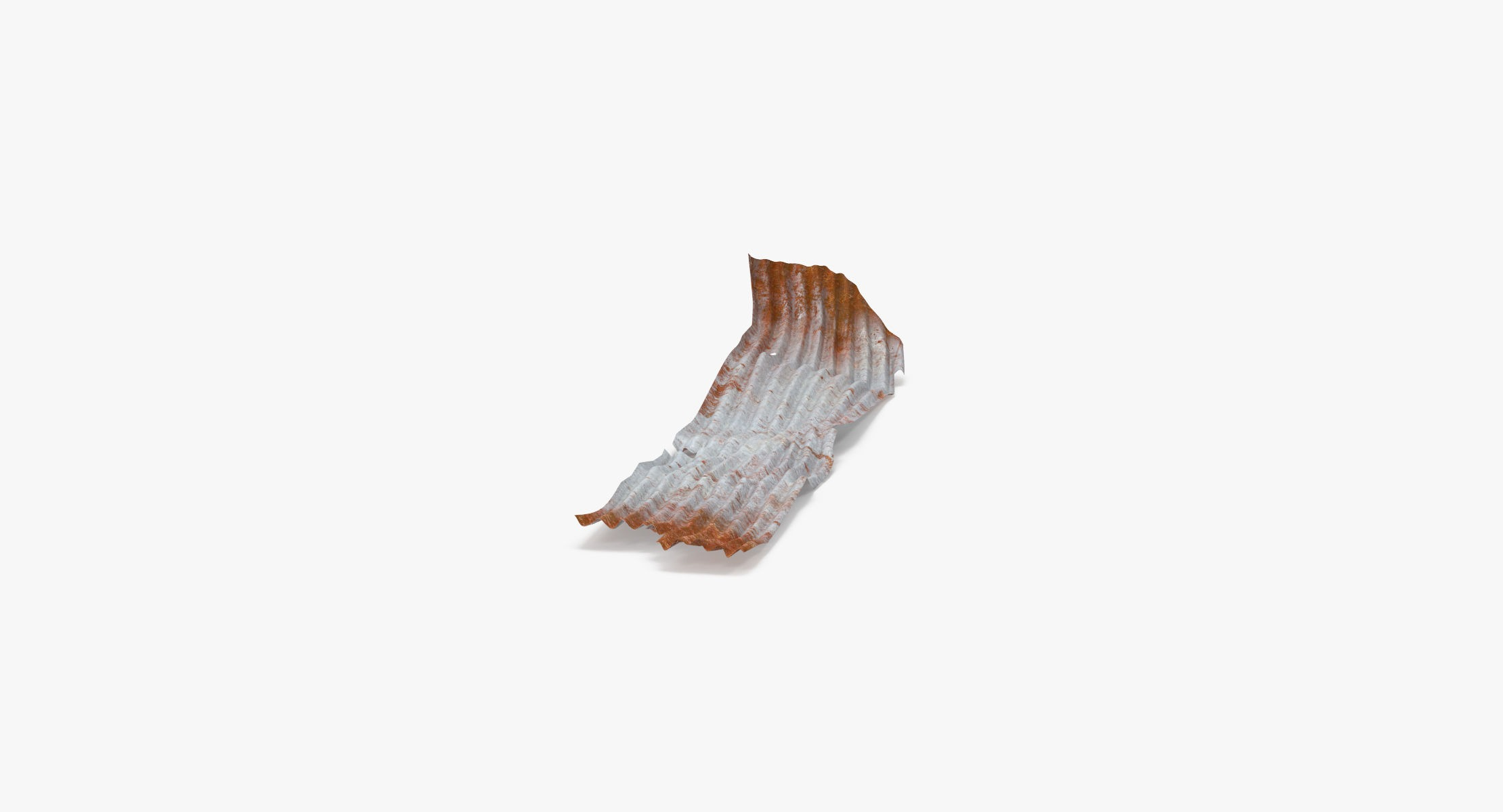 Corrugated Metal Sheets Bent - Large - reel 1