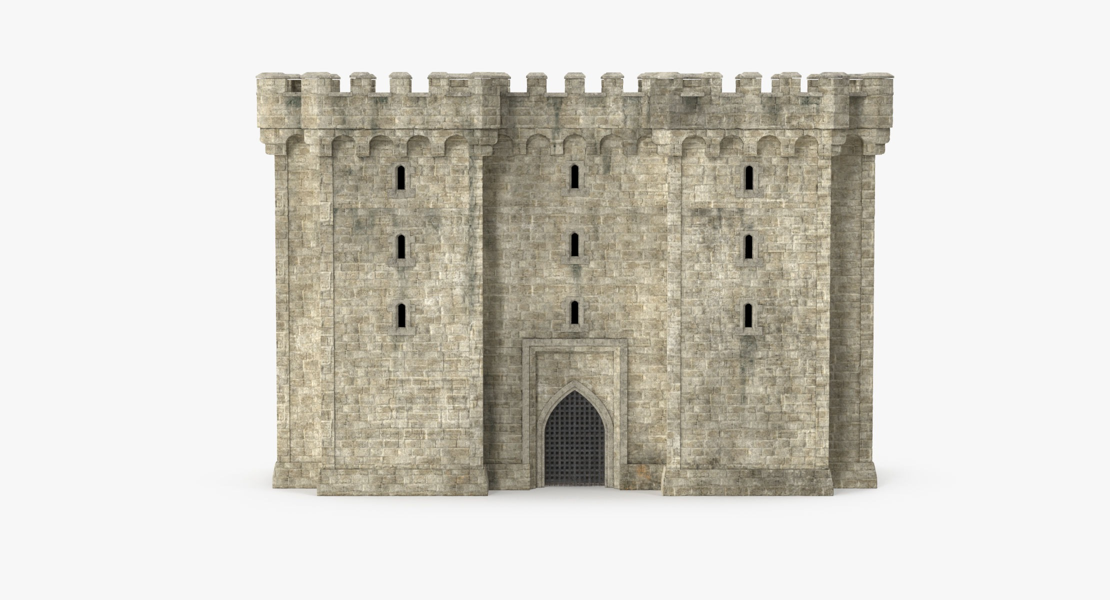 Gatehouse with portcullis 01 - Castle - reel 1
